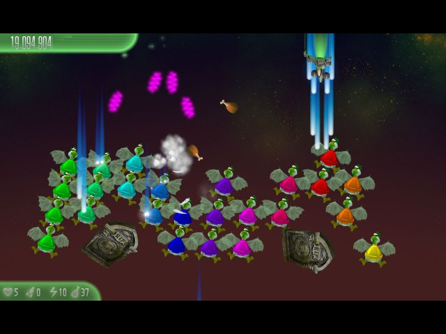 Screenshot del gioco  «Chicken Invaders 5: Cluck of the Dark Side. Halloween Edition» № 3