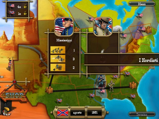 Screenshot del gioco  «The Bluecoats: North vs South» № 3
