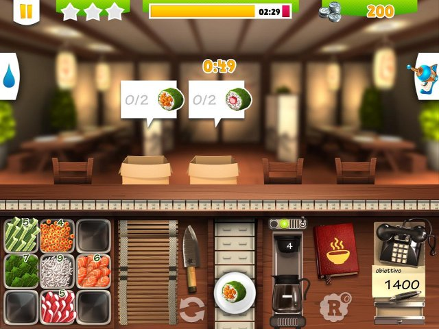 Screenshot del gioco  «Youda Sushi Chef 2» № 4
